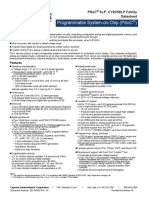 PSoC 5LP CY8C58LP Family Datasheet Programmable System-On-Chip PSoC