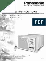 Panasonic Air Con CWXC103VU.pdf
