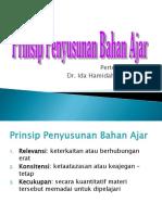 5. Prinsip Penyusunan Bahan Ajar