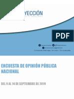 Encuesta Nacional Septiembre 2019 de Proyección
