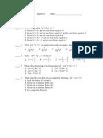 Test in Math 8