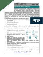 Charla Integral de SSSE N 021 Manipulación Manual de Cargas