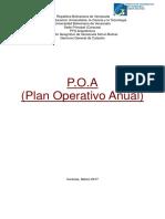 (Poa) Plan Operativo Anual