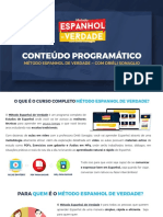 Conteúdo Programatico Ementa Método Espanhol de Verdade Versão 3.0