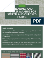 Spreading and Marker Making for Striped and Checked