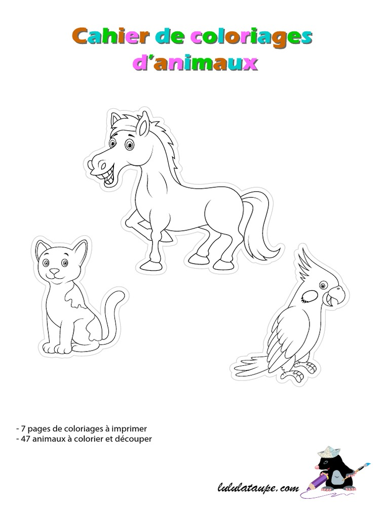 Cahier Coloriage Animaux Pdf