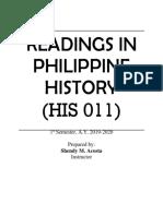 Readings in Philippine History Portfolio