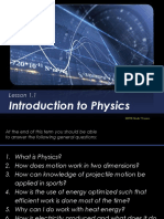 Lessons 3 1 to 3 2 Intro to Physics to Motion