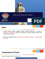 Slip form and Fixed form pavers