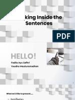 Sentence, phrase, clause