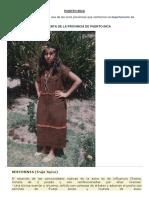 Vestimenta y Artesania de Puerto Inca