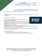 SIG-P-02 Modelo Procedimiento Gestión de Riesgos y Oportunidades, Ver 01