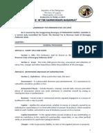 Brgy.poblacion Tax & Revenue Code 2018