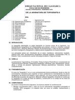 Silabo Topografia II (Competencias) (2019 II)