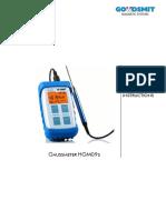Manual Goudsmit Gaussmeter HG09 en 1 00