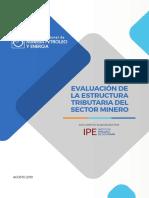 Evaluación de la estructura tributaria del sector minero