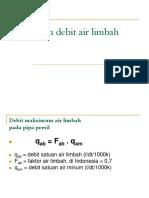 Debit Air Limbah