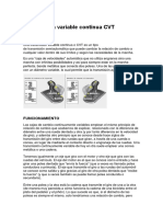 Transmisión Variable Continua CVT