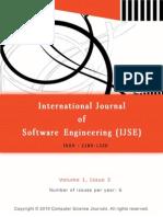 International Journal of Software Engineering (IJSE) V1 I3