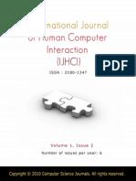 International Journal of Human Computer Interaction (IJHCI) V1 I2