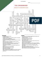 Crucigrama en Ingles 2019 Impuestos