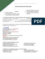 Revisão Para Prova de Português 4ano