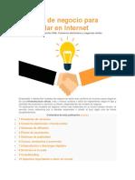 2 Modelos de Negocio Para Desarrollar en Internet