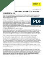 Carta del Secretario General de Amnistía Internacional al Consejo de Derechos Humanos de la ONU pidiendo la creación de una comisión de investigación