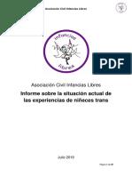 Informe - Infancias Libres - Julio 2019