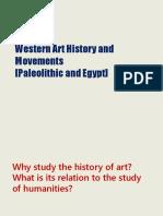 SESSION 6 -1 Western Art Paleolithic Egypt
