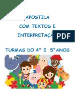 Apostila de Textos e Interpretação 4 e 5 Anos Cc