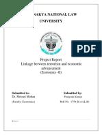 Linkage Between Terrorism and Economic Advancement