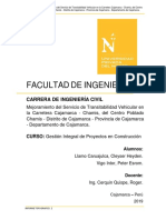 Informe Topografico Carretera