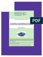 An Evaluation on the Readiness of Filipino profesional to meet  international standards