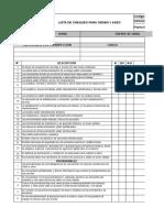 SST-CPB-017 Lista de Chequeo Orden y Aseo