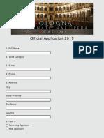 Bologna International Opera Academy Application Form 2019