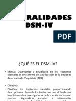 GENERALIDADES DSM-IV y Clasificacion Multiaxial
