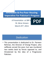 Affordable and Pro-Poor Housing