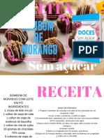 Bombom de Morango receita de doces sem açúcar