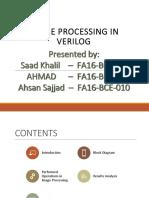 Presentation for FPGA Image processing