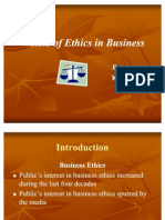 Role of Ethics in Buissness