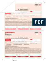 HSBC Email Update Form