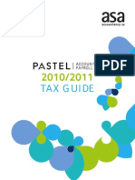 (2010 - 2011) Pastel Tax Guide