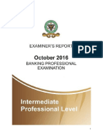CIBN Examiners Report October 2016