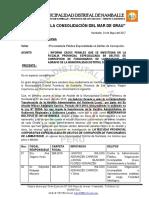 Oficio a La Procuraduría y La Pcm