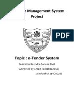 e_tender system