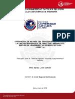Lema Hilda Mejora Proceso Productivo Pael Tisu Manufactura Esbelta