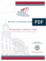 Audit of Cleveland State Community College