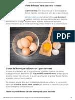 proteina clara de huevo