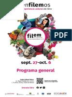 Feria del Libro Estado de México 2019 Programa